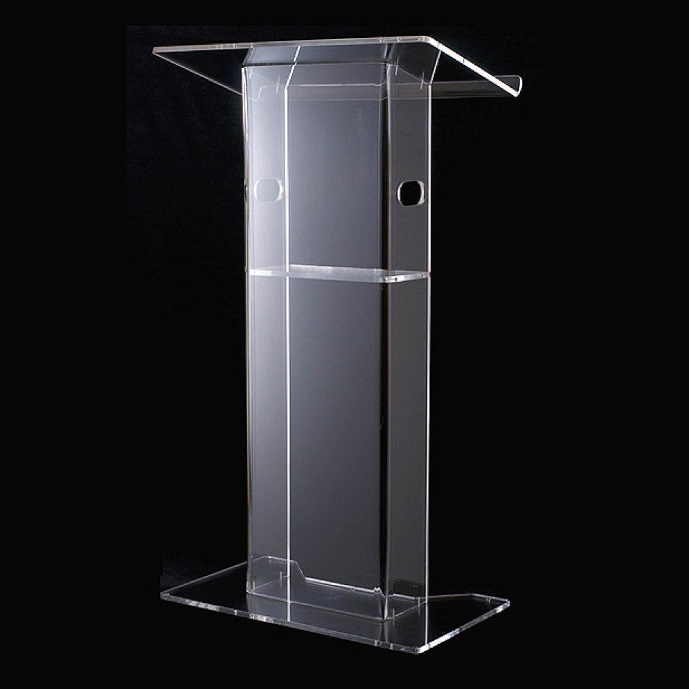 PRO AV Premier Acrylic Lectern - 09