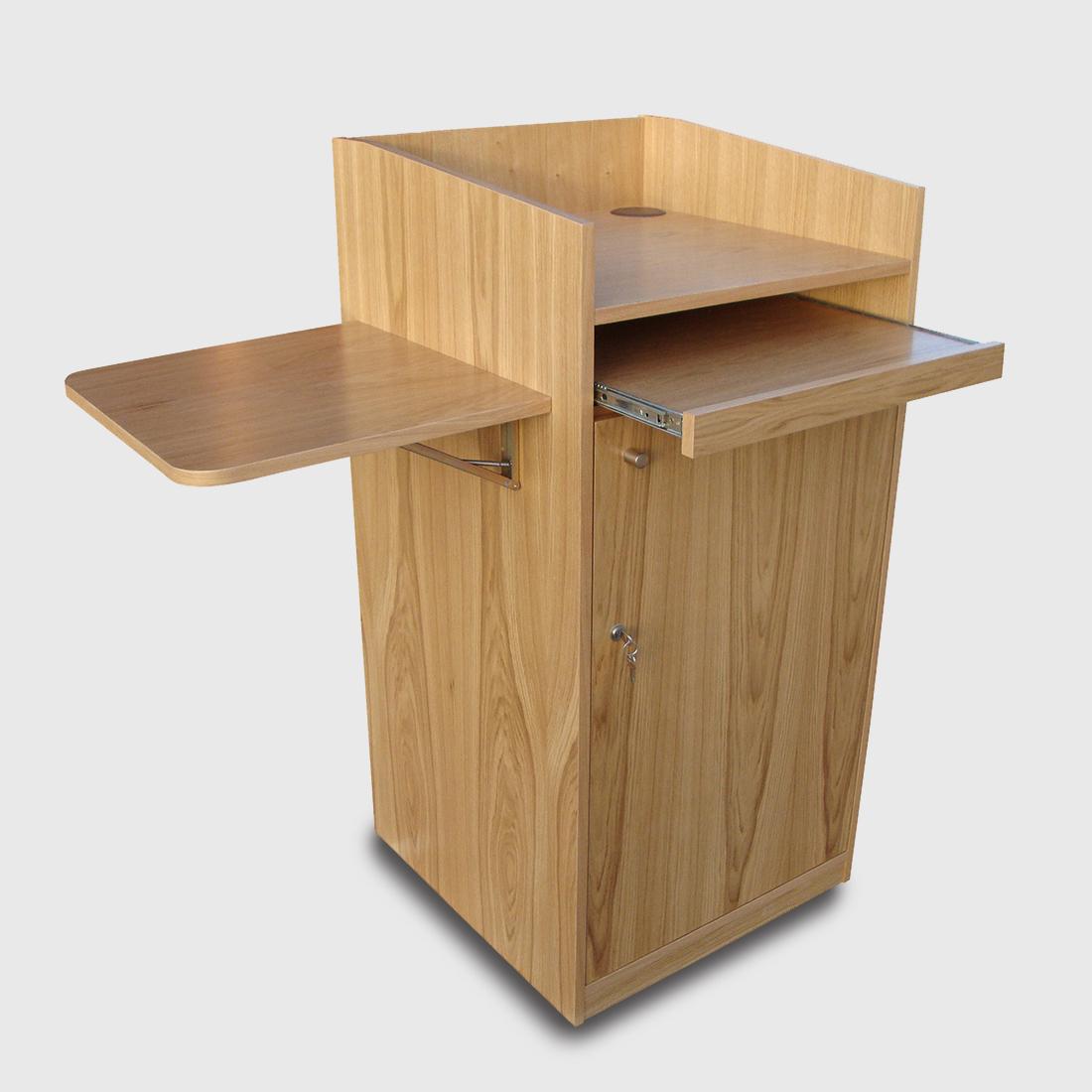 PRO AV AV Lectern 01 - Wood Lectern - Material – Veneer