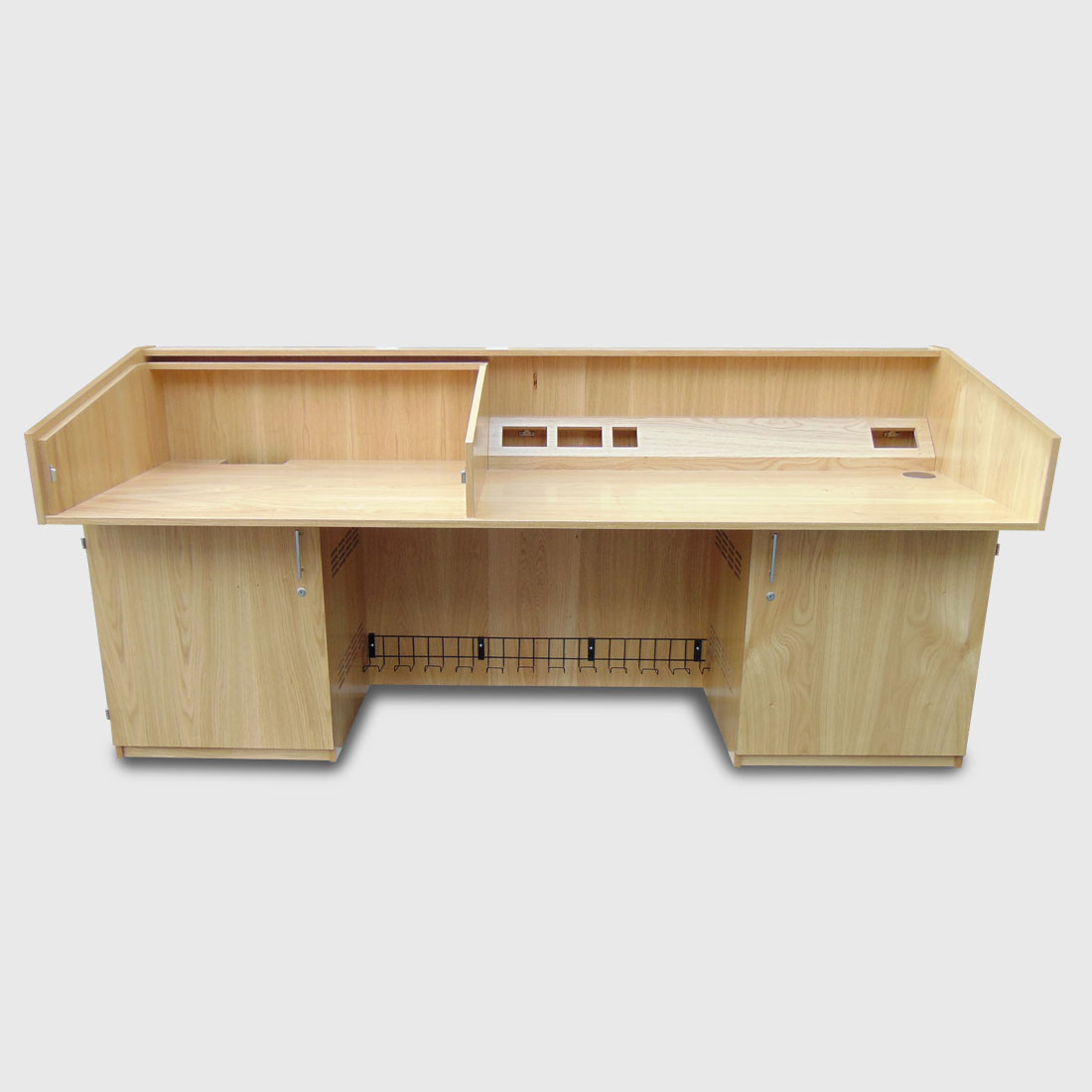 cabinet executive darin zebrano ze desk office with return filingcabinet left modern